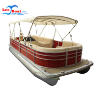 High Quality pontoon boat with Bimini Top